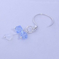 Winter Ice Earrings with Swarovski Bicones and SS Findings