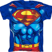 Superman Man Of Steel T-Shirt Costume by MyPartyShirt - Teenormous.com