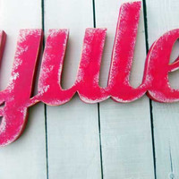 Holiday Wood Sign - Yule Wall Decor