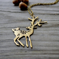 Deer Necklace - Woodland - Woodland Jewelry - Gifts Under 25