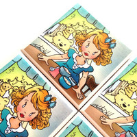 Goldilocks Illustration Coasters, Ceramic Tile, The Three Bears, Fairytale,  Melody DuVal, Table Drink Set