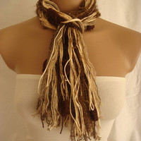 Fringe Scarf Knotted Scarf The Chocolate