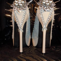 High Heel Platform Spiked Women Shoes size 8 A by Spikesbyg