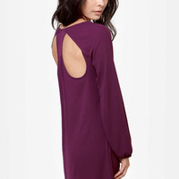 Good Golly Plum Purple Backless Dress