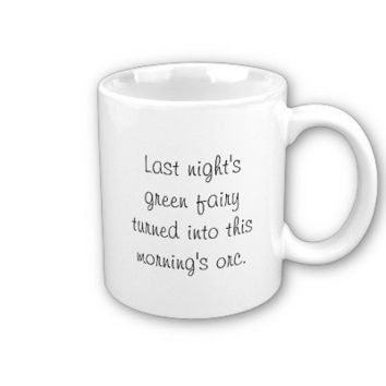 Taste of Absinthe Silhouette Pyrography Mugs from Zazzle.com