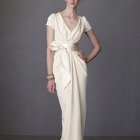 Crepe De Chine Column Gown in SHOP Attire Gowns at BHLDN