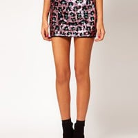 ASOS Mini Skirt in Animal Sequin at asos.com