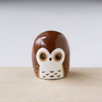 Vintage Goods Brown Owl Figurine