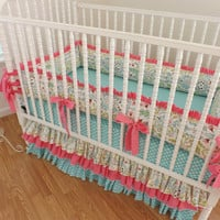 Baby Bedding Made to Order 3 pc Crib Bedding Set