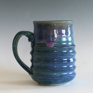 Pottery Mug, 16 oz, handmade ceramic cup, tea cup, coffee cup, handthrown ceramic stoneware pottery mug, unique coffee mug
