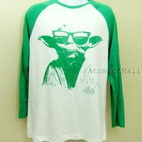 Men's Star Wars L/S Baseball Shirt Cool Shades Yoda L | eBay