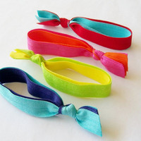 4 Double Layered Hair Ties By Lucky.. on Luulla