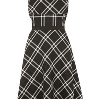 Oasis Formal | Multi Check Fit and Flare Dress | Womens Fashion Clothing | Oasis Stores UK
