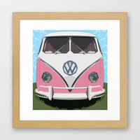 VW Kombi van Framed Art Print by Bruce Stanfield | Society6