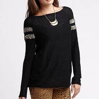 Nollie Sequin Striped Sleeve Sweater at PacSun.com