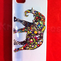 Iphone 5 Case, New iPhone 5 case Colorful Elephant phone iphone 5 Cover, iPhone 5 Cases, Case for iPhone 5