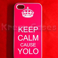 Iphone 5 Case, New iPhone 5 case Keep calm cause YOLO iphone 5 Cover, iPhone 5 Cases, Case for iPhone 5
