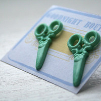 Scissor Earrings Cute Earrings Plastic Studs