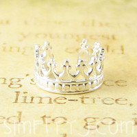 Sterling Silver Majesty Crown Ear Cuff