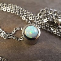 Beautiful White Opal Necklace