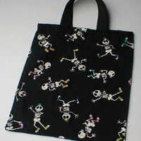 Halloween Trick or Treat Skeleton Bag by RArtsyDesigns on Etsy