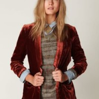 Free People Slouchy Velvet Blazer at Free People Clothing Boutique