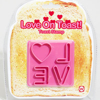 Love On Toast Stamp | Pink Toast Stamp | fredflare.com