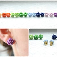 NEW Flower Stud Earrings
