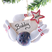 Bowling Christmas ornament - personalized bowling ornament -  Christmas ornament - sports ornament