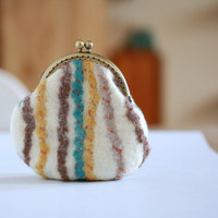 Coin purse - coin pouch - felted wool coin purse - Chistmas gift
