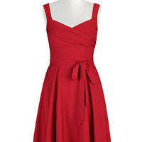 Tomato red twill dress