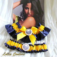 Buffalo Sabres Garter - wedding garter set