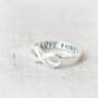 Love Forever Infinity Ring in silver