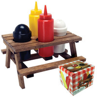 Mini Picnic Table Condiment Holder from Baron Bob and Wonderfully Wacky