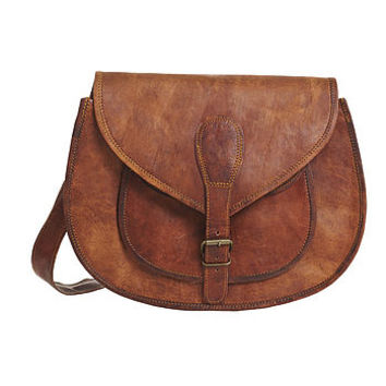 Vintage Style Leather Handbag