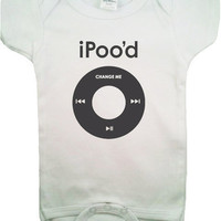 Cute Funny iPood Baby Onesuit Bodysuit 36 by Goodlooksclothing