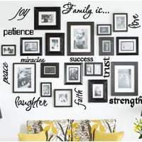 Family Is Vinyl Word Collage on Luulla
