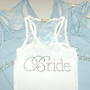 4 Bridesmaid Tank Top Shirt. Half Lace. Bride, Maid of Honor, Brides Entourage. Matron of Honor, Bridzilla, Wifey, I do, mother of the bride