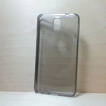 For Samsung Galaxy Note 3 Black Transparent TPU Soft Silicone Case