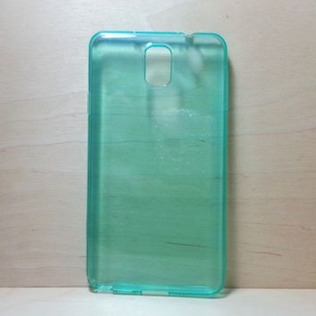For Samsung Galaxy Note 3 Turquoise Transparent TPU Soft Silicone Case