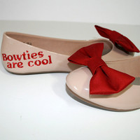 Doctor Who bow ties are cool ballet flat shoes