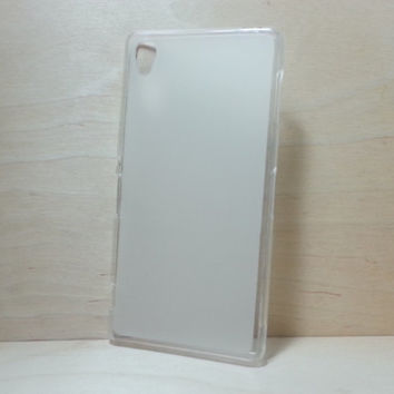 For Sony Xperia Z3 Soft TPU translucent Color Case Protective Silicone Back Case Cover - White
