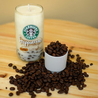 Recycled Starbucks Frappuccino Bottle Soy Candle