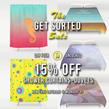 15% OFF Shower Curtains and Duvet Covers! by eDrawings38   Society6