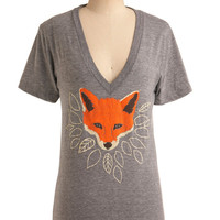 Girl Fox Tee | Mod Retro Vintage T-Shirts | ModCloth.com