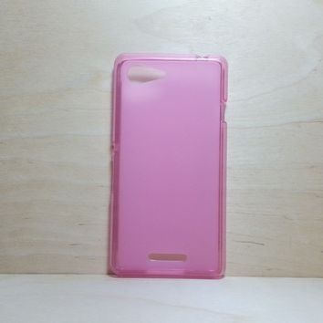 For Sony Xperia E3 Soft TPU translucent Color Case Protective Silicone Back Case Cover - Pink