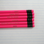mean girls assorted engraved pencil set 6 hot pink hot pencils. back to school supplies.