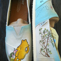 Winnie the Pooh and Piglet Custom (Classic Disney Illustration Pictured) - Also Available in Keds