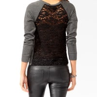Boxy Lace Back Pullover