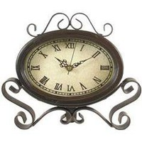 Metal &amp; Wood Table Clock - Hobby Lobby